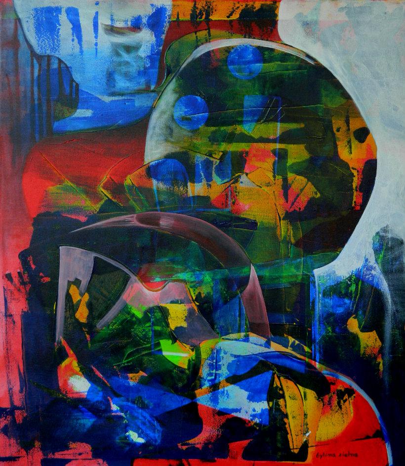 BYLINA ZIELNA aktyl-płótno, 70 x 80 cm