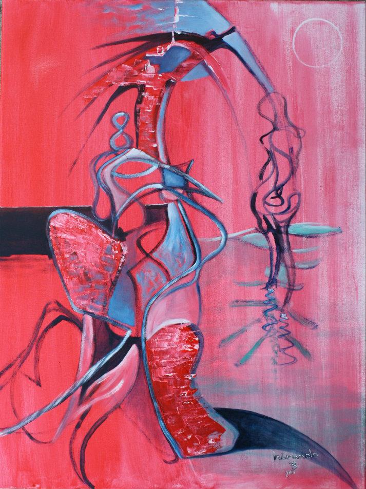 HIRUNDO akryl-płótno, 60 x 80 cm