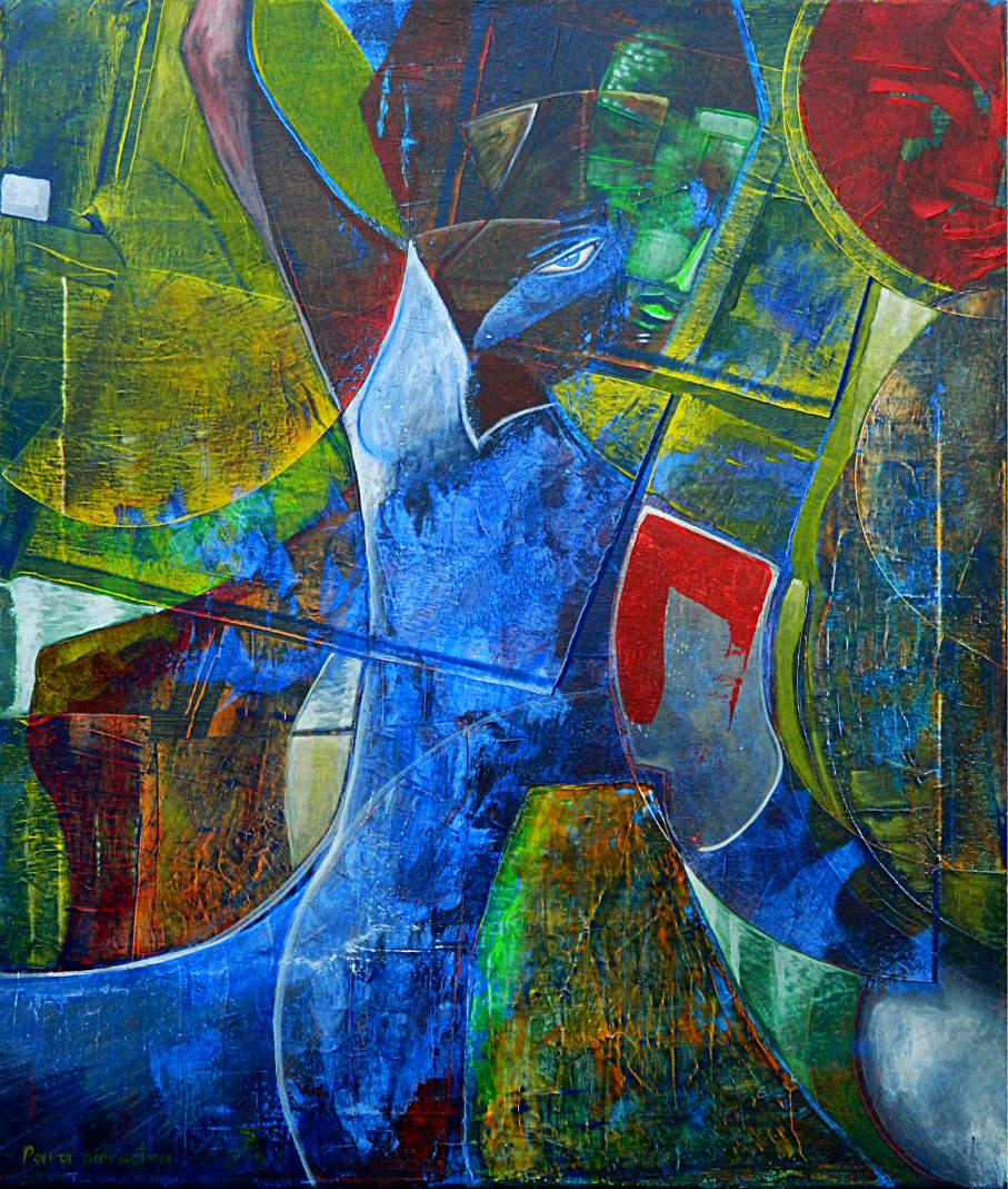 PARA PIERWOTNA akryl-płótno, 60 x 70 cm