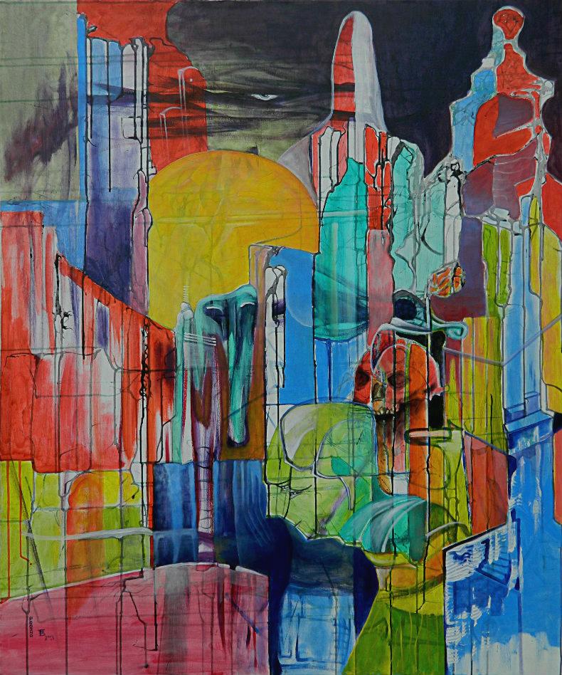 PRÓŻNA akryl-płótno, 100 x 120 cm