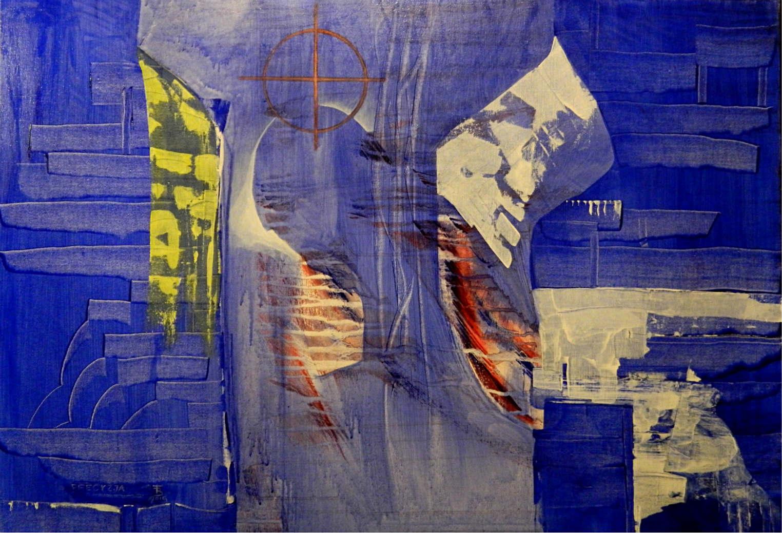 PRECYZJA akryl-płótno, 100 x 70 cm
