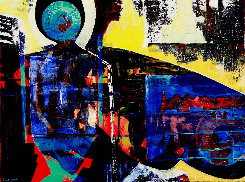 PRZESILENIE akryl- płótno, 60 x 80 cm