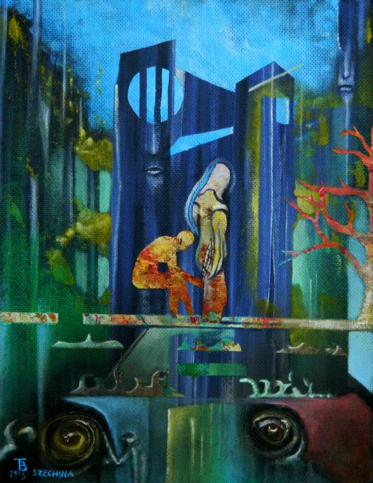 SZECHINA akryl-płyta, 30 x 40 cm