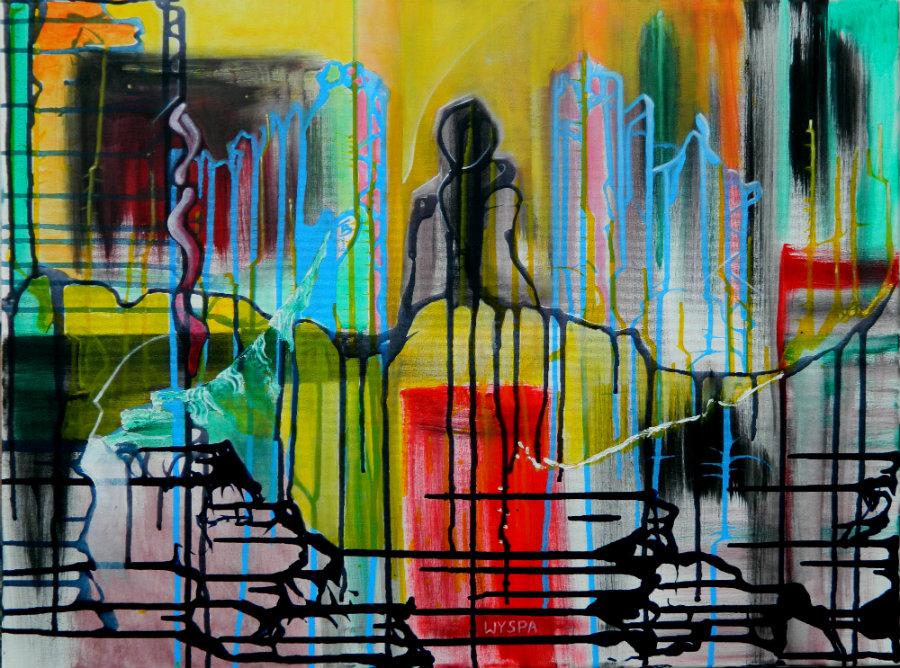 WYSPA akryl-płótno, 60 x 80 cm
