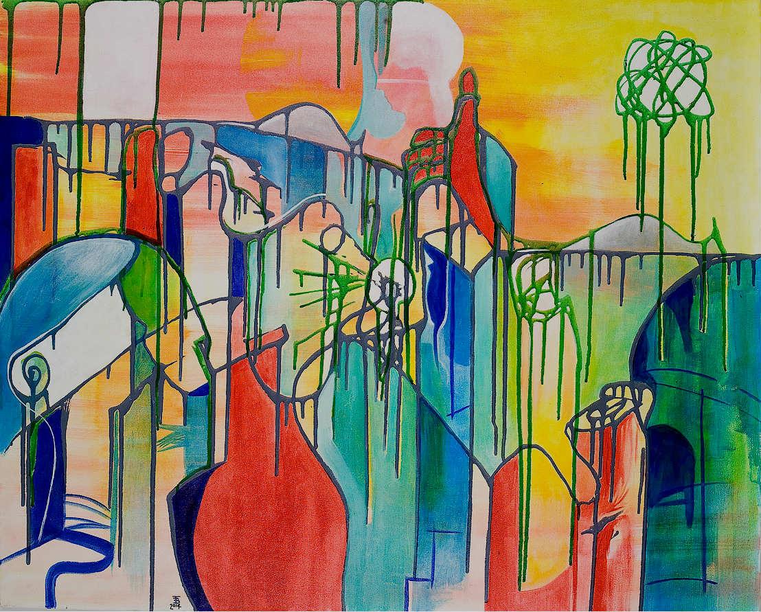 akryl-płótno, 100 x 81 cm