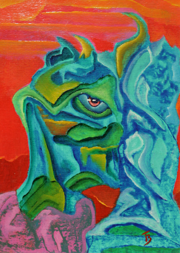 akryl-płótno, 19 x 26 cm