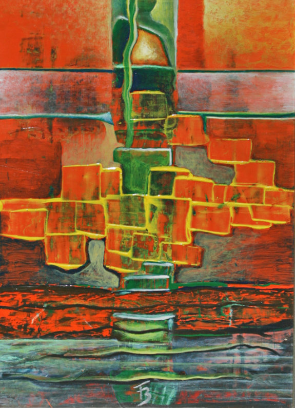 akryl-płótno, 20 x 25 cm
