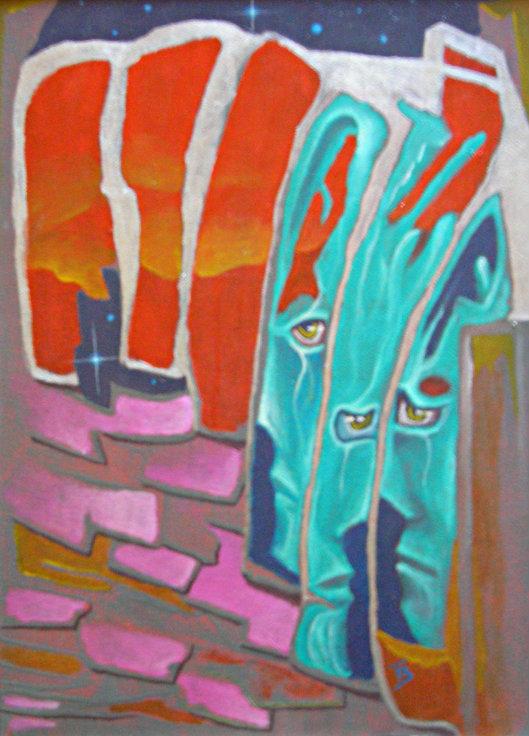 akryl-płótno, 20 x 26 cm