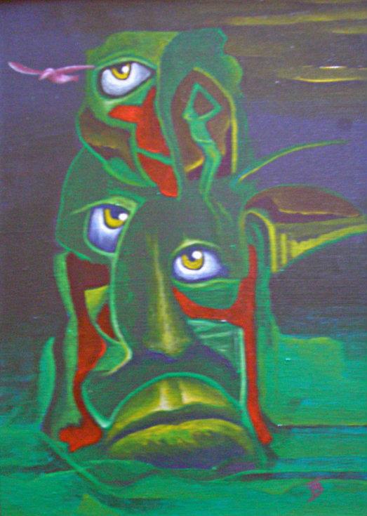 akryl-płótno, 20 x 27 cm