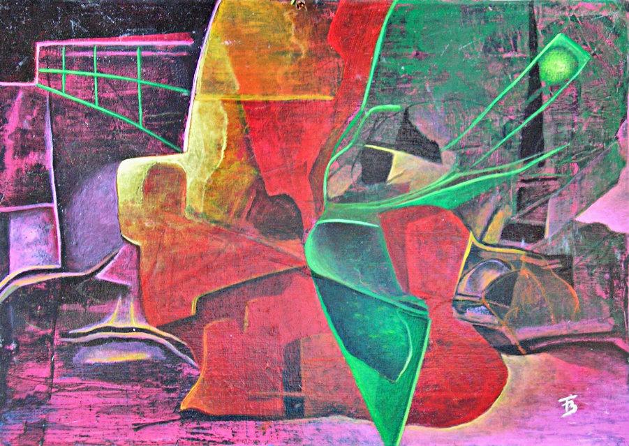akryl-płótno, 24 x 29
