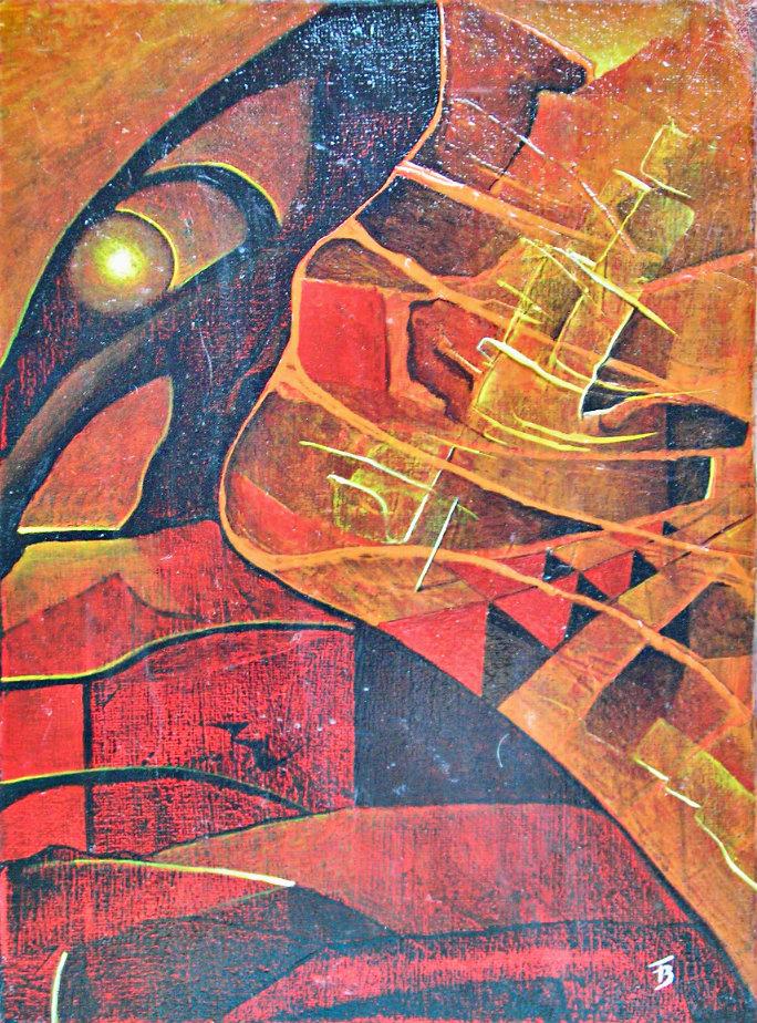 akryl- płótno, 24 x 31 cm