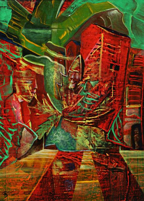 akryl-płótno, 24 x 33 cm