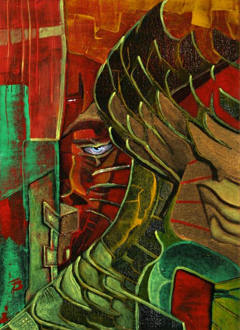 akryl-płótno, 24 x 34 cm