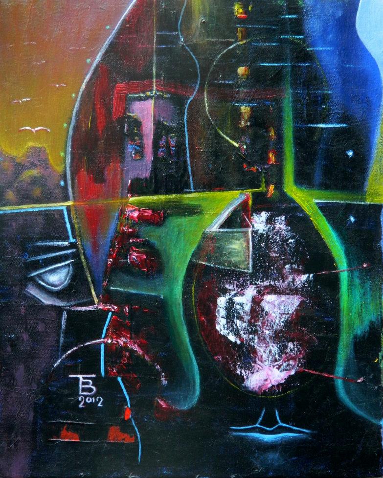 akryl-płótno, 27 x 33 cm