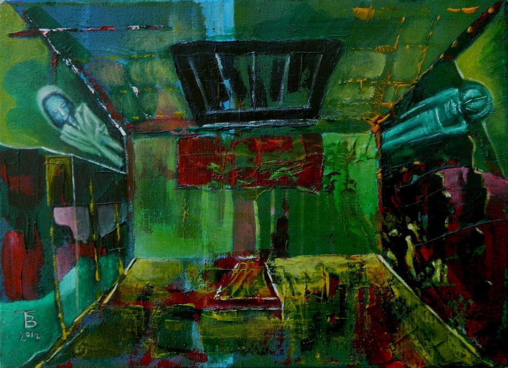akryl-płótno, 33 x 24 cm