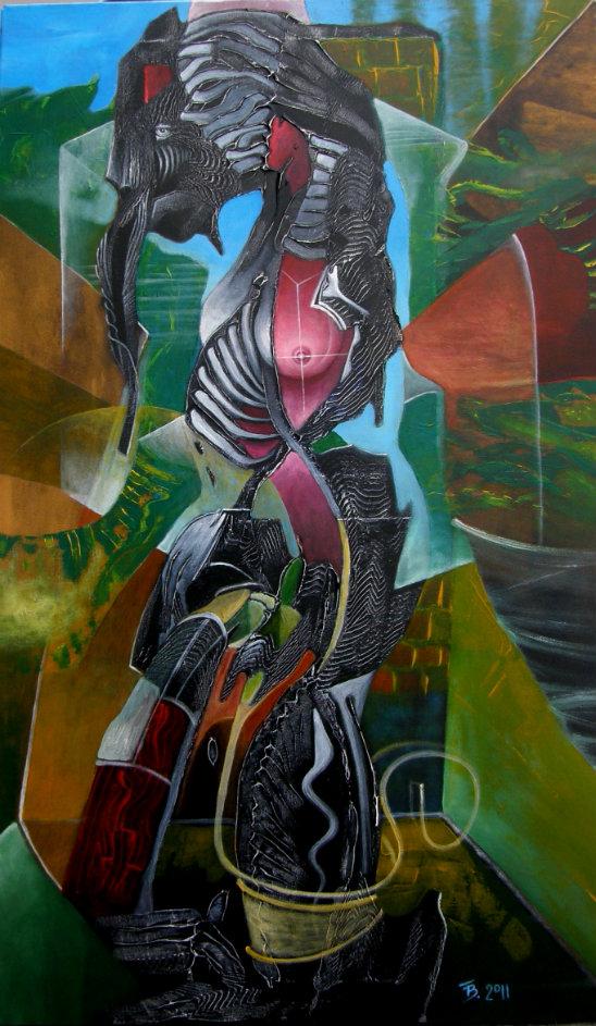 akryl-płótno, 60 x 100 cm