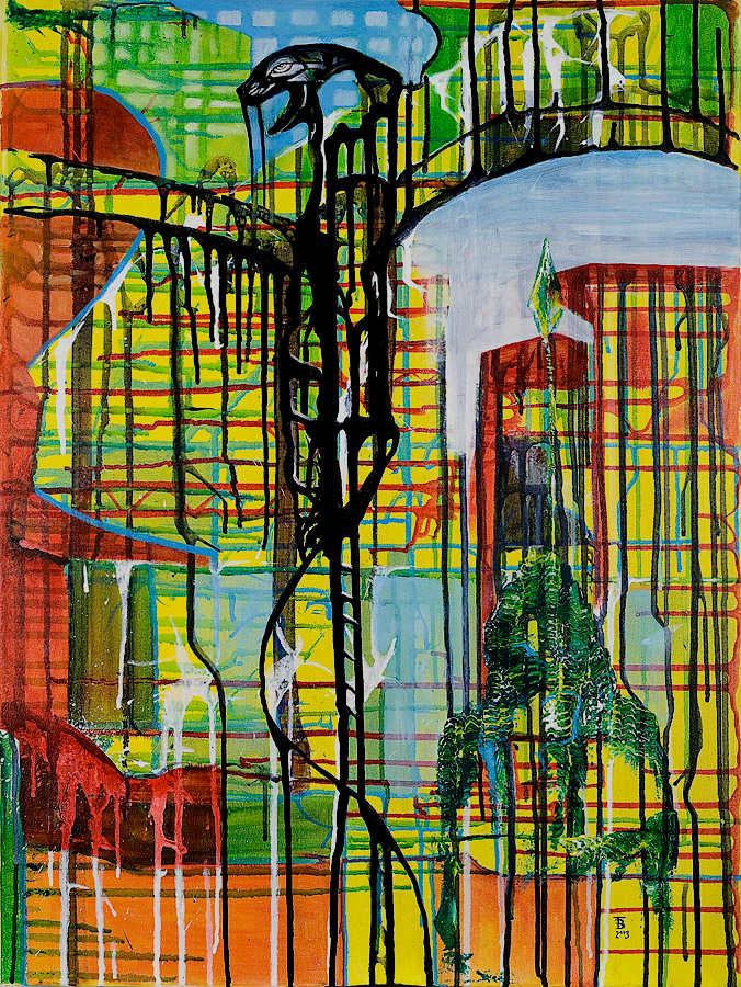 akryl-płótno, 60 x 80 cm