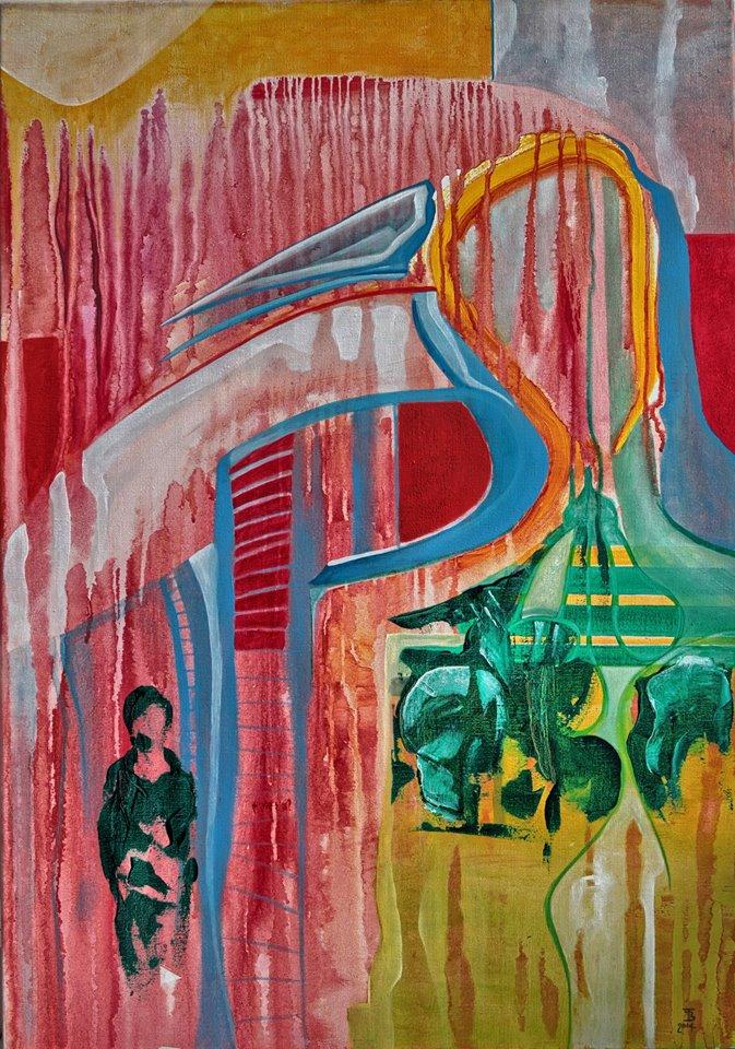 akryl-płótno, 70 x 100 cm