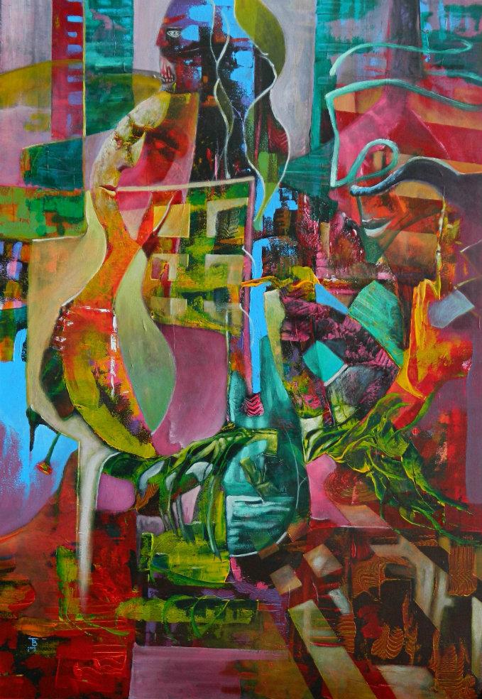 akryl-płótno 70 x 100 cm
