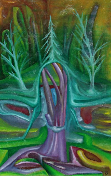 olej-płótno, 27 x 41 cm