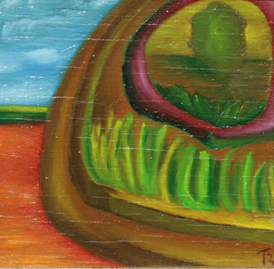 olej-płyta, 10 x 10 cm