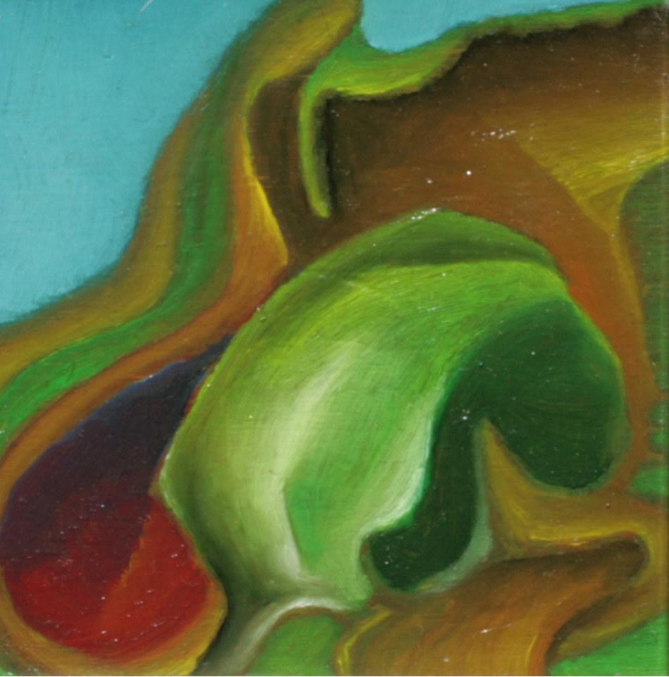 olej-płyta, 11 x 11 cm