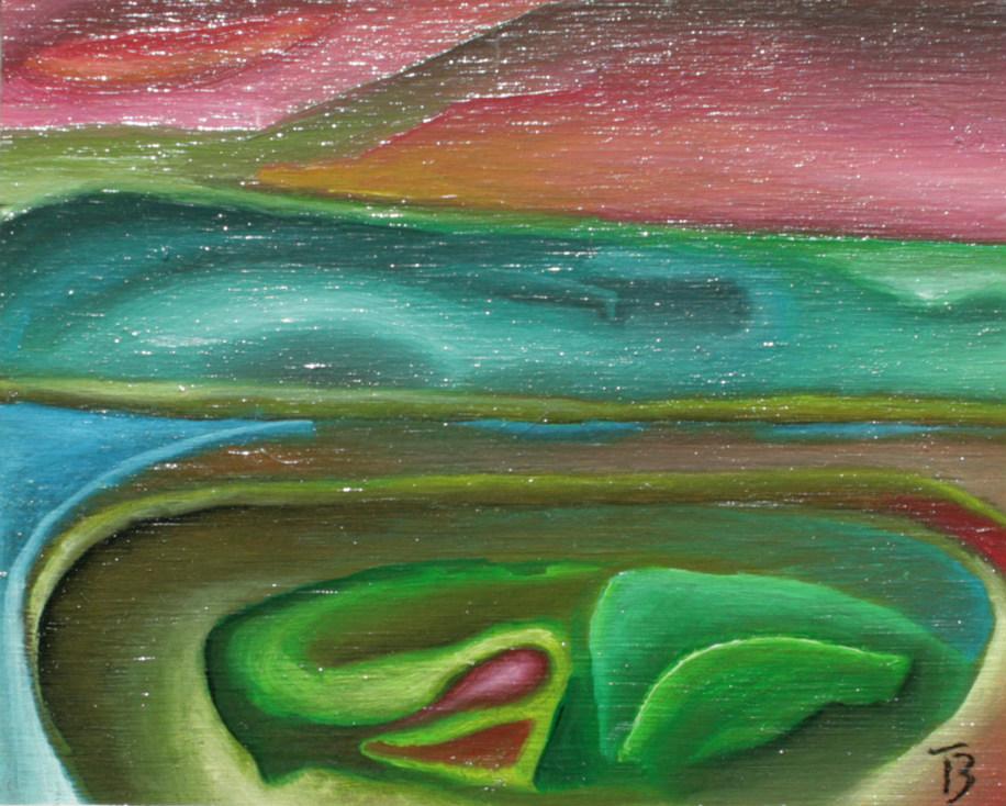 olej-płyta, 12 x 10 cm