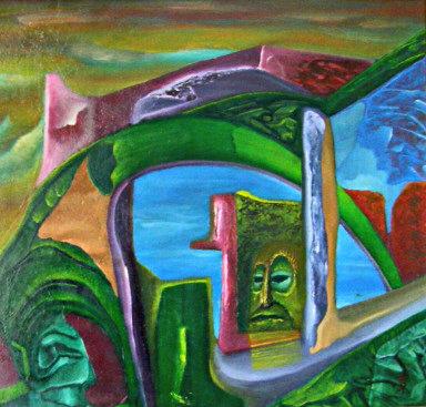 olej-płyta, 38 x 40 cm